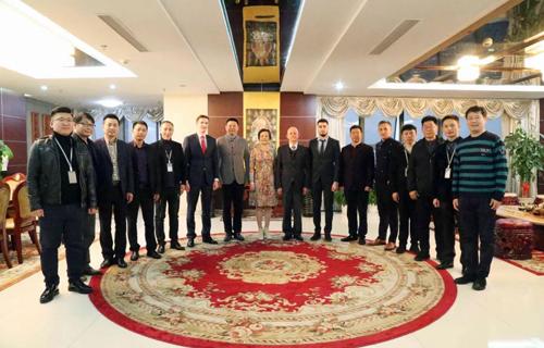 白俄罗斯共和国驻上海总领事一行到访和数公司,进行了战略合作交流